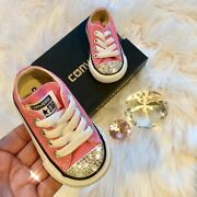 Bling Converse All Star Chuck Taylor Infant Toddler Shoes W/ Crystals