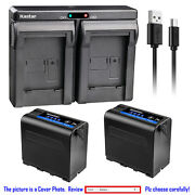 Kastar F980 Battery Dual Charger For Sony Np-f960 Sony Gv-d800 Gv-d900 Gv-hd700e