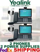 Yealink Sip-t58v Smart Video/media Ip 2 Phones Wifi Bluetooth Android 2 Ac Ps