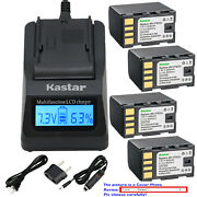 Kastar Battery Lcd Fast Charger For Bn-vf823 And Jvc Gz-ms123 Gz-ms90 Gz-ms90us
