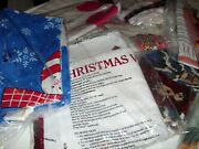 Pick Posies Material Fabric Panel Aprons Appliques Vest Christmas Snow Buddies