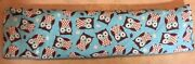 Hot Or Cold Cherry Pit Pad-owl Prints On A Turquoise Background - Flannel Fabric