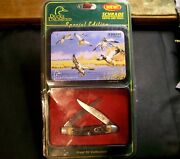 Schrade 77uh Muskrat Knife Ducks Unlimited Special Edition 3-7/8 Cl. W/clampac