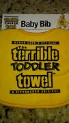 Pittsburgh Steelers Terrible Toddler Towel Baby Bib With Adjustable Snaps