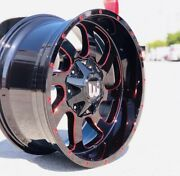 20andrdquo Wheel Gloss Black Red Milling Offroad Western Wheels Dusty 20 X 10andrdquo
