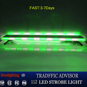 New 112 Led 59 Inch Emergency Light Bar Tow Truck Top Roof Mount Gre White Ip67