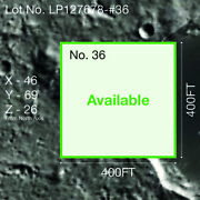 Moon Land [for Sale] 3.6 Acres Certification Of Ownership [available]