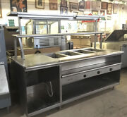 Steam Table Hot Food Buffet With Overhead Shelf