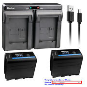 Kastar Battery Dual Charger For Sony Np-f970pro Sony Gv-d800 Gv-d900 Gv-hd700e