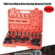 23pc Front Wheel Drive Bearing Press Tool Removal Adapter Puller Pulley Kit Fwd