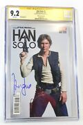 Star Wars Han Solo 1 Photo Cover Cgc 9.2 Ss Signature Signed Harrison Ford