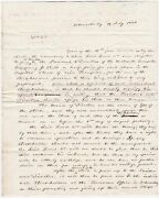 Rare Signed Stampless Letter Re Utica And Schenectady Railroad 1836 Jacob Glen Ny