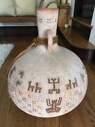 Large Native American Pottery Vase Jack Moulthrop 26 Inch In Height -