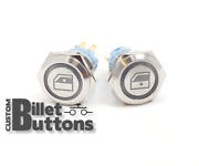 Window Up Down Laser Etched Billet Push Buttons 12v Led Car Motorcycle Racing