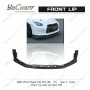 Carbon Splitter For 2008-2010 Nissan R35 Gtr Ks-style Ty2 Front Lip W/ Air Duct