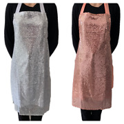 Glitter Sparkly Shiny Fancy Occasional Novelty Lined Sequin Apron Kitchen