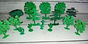 Lot Of Vintage Marx Hard Plastic Christmas Trees Cactus Roy Rogers Rodeo Ranch