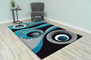 Premium 3d Effect Hand Carved Thick Modern Contemporary Abstract Rug Design 1504