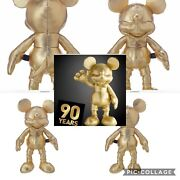 Mickey Mouse 90th Anniversary Gold Coll. Both Large And Small Plush Nwt