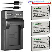 Kastar Battery Slim Charger For Casio Np-70 Bc-70l And Casio Exilim Zoom Ex-z250rd