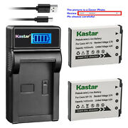 Kastar Battery Lcd Charger For Casio Np-70 Bc-70l And Casio Exilim Zoom Ex-z250gd