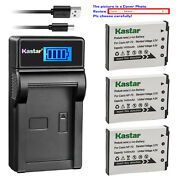 Kastar Battery Lcd Charger For Casio Np-70 Bc-70l And Casio Exilim Zoom Ex-z250pk