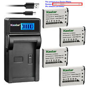 Kastar Battery Lcd Charger For Casio Np-70 Bc-70l And Casio Exilim Zoom Ex-z250