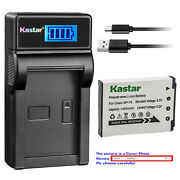 Kastar Battery Lcd Charger For Casio Np-70 Bc-70l And Casio Exilim Zoom Ex-z250bk