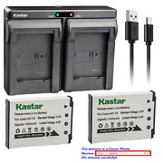 Kastar Battery Dual Charger For Casio Np-70 Bc-70l And Casio Exilim Zoom Ex-z250bk