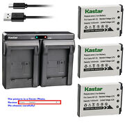 Kastar Battery Dual Charger For Casio Np-70 Bc-70l And Casio Exilim Zoom Ex-z250gd