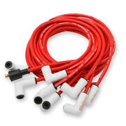 Mallory Spark Plug Wire Set 937c Psw Ceramic Boot 8.0mm Red Spiral Wound For V8