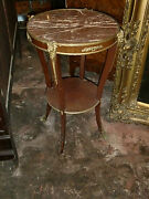 Antique French Lxv Style Bronze Decorations Marble Top 19th C Center Table