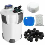 Aquarium Canister Filter 3-stage 265 Gph Free Media Up To 75 Gal Fish Tank
