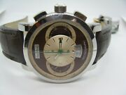Paul Picot Menand039s Technograph Pp 0334 Chocolate Dial Chrono Automatic Watch