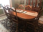 10 Piece Dining Room Set W/ Buffet/china Hutch And 8 Chairs Excellent Condition