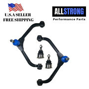 4 Pcs Front Suspension Kit Upper Control Arms And 2 Lower Ball Joints For Jeep