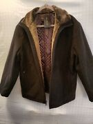 Andrew Marc Ny- Medium Brown Wool Cashmere Blend Zip Front Coat- New Wth Tags