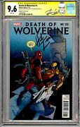 Death Of Wolverine 1 Cgc Ss 9.6 Nm+ Signed By Stan Lee And Herb Trimpe Rip