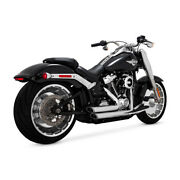 Vance And Hines Shortshots Staggered Chrome Harley-davidson Fatboy, Breakout 18-19