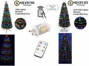 Led Fibre Optic Christmas Tree Remote Controlled Timer Xmas Home Decorations