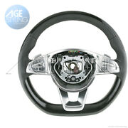 Oem Mercedes-benz S550 S600 S63 S65 Amg Piano Wood Leather Steering Wheel 15-18