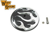 Wyatt Gatling Flame Air Cleaner Cover Insert For Harley Touring Softail Dyna