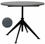 30 W Set Of 2 Adjustable Side Table Iron Base Solid Smooth Polished Marble Top