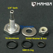 1/4 Turbo Boost Vacuum Soft Mount Fitting Into Silicone Hose Universal Fitting