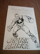 1992 Orig. Pen And Ink Drawing -george Bush -the Real Captain America -sal Trapani