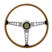 New 1965 - 1973 Ford Mustang Shelby Gt350 Woodgrain Steering Wheel With Center