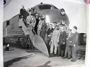 1947 Bandw Photograph Of Thomas Dewy And Upstate Ny Editors Boarding A Train