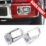 For Ford F-150 F150 Chrome Front Bumper Fog Light Cover Trim Fit 2015-2017 Xlt