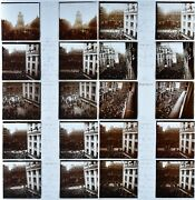 Set Of 12 View Stereo Format 1 25/32x4 7/32in Feast Victory 14/07/1919.