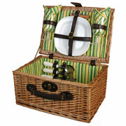 2 Person Picnic Basket Set For 2, Wicker Picnic Basket For 2 Persons, Picnic Set